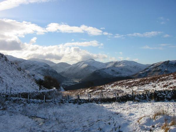 The head of Borrowdale from the high point on the Rosthwaite to Watendlath path