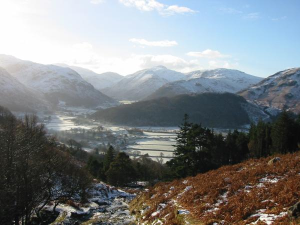 Looking down on Rosthwaite