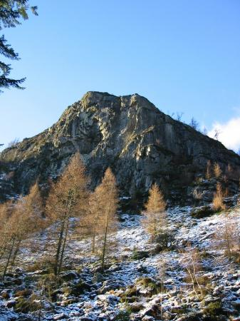Raven Crag from in the forest
