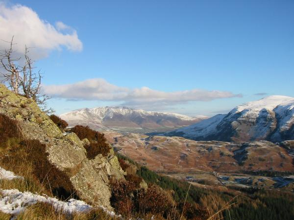Blencathra from the top of Raven Crag