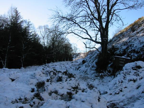 Castle Crag Fort's earthworks
