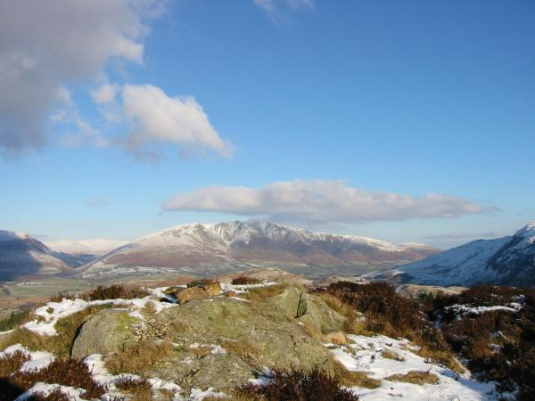 Blencathra from the summit of The Benn