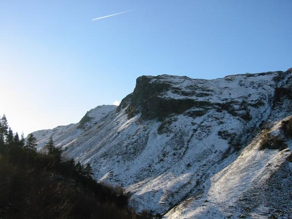 Looking back up the gill to Iron Crag