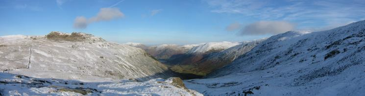 Northerly panorma from the climb up Red Screes