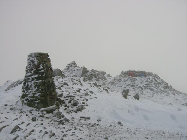 Red Screes summit, in cloud