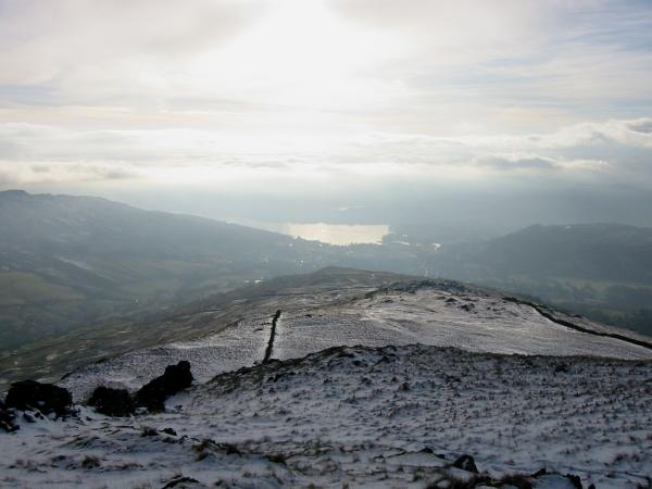 Looking down the ridge to Windermere