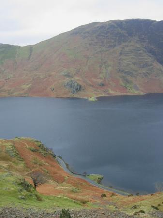 Looking across Crummock Water to High and Low Ling Crags