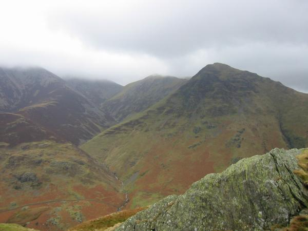 Whiteless Pike out of the cloud from near the summit