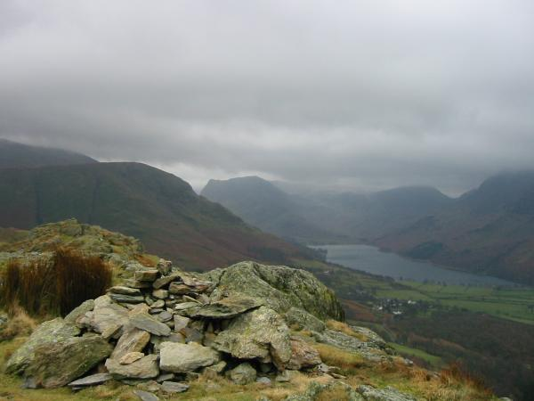 High Snockrigg, Honister Crag and Buttermere from Rannerdale Knotts summit