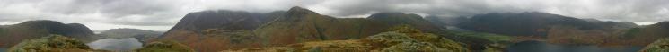 360 Panorama from Rannerdale Knotts' summit
