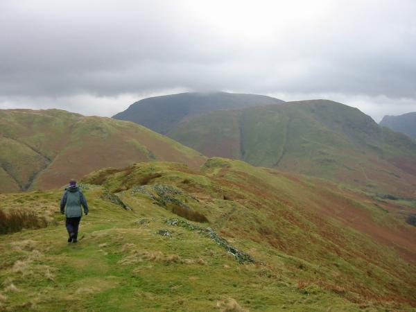 Heading along Low Bank with Robinson now almost out of the cloud