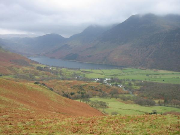 Buttermere village from Low Bank