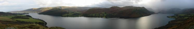 Ullswater and the Far Eastern Fells from above Yew Crag