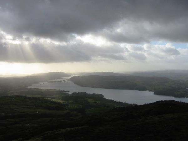 Windermere from Wansfell Pike summit