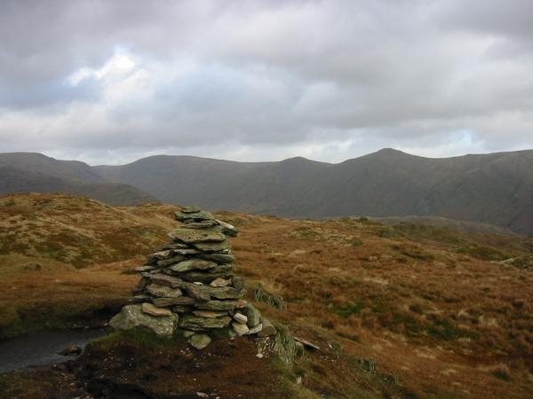 Thornthwaite Crag, Froswick and Ill Bell from Baystones, Wansfell's summit
