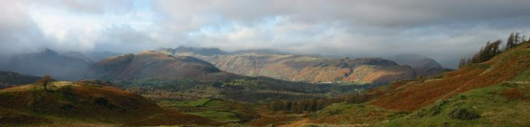 Lingmoor Fell, Blea Rigg, Silver How and Helm Crag