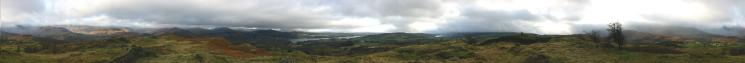 360 Panorama from Black Crag's summit