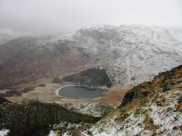 Looking down on Blea Tarn