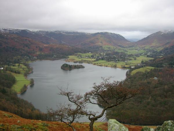 Grasmere from high up Loughrigg Fell