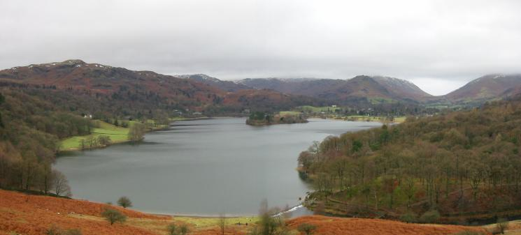 Silver How, Grasmere and Helm Crag from Loughrigg Terrace