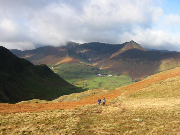 Approaching Hause Gate with Causey Pike behind