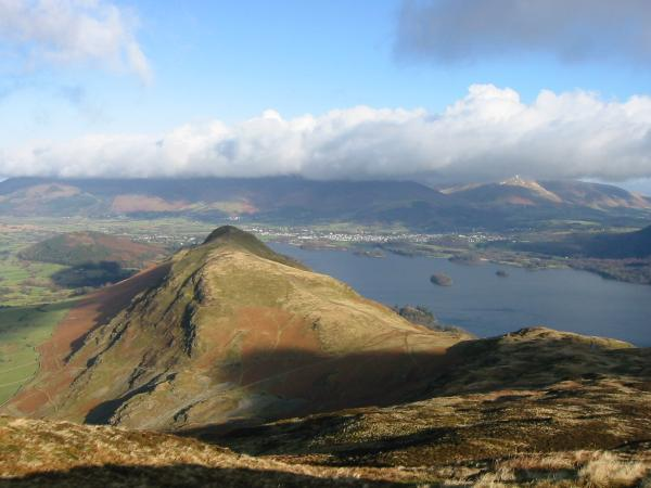 Catbells, Derwent Water and Keswick from Maiden Moor