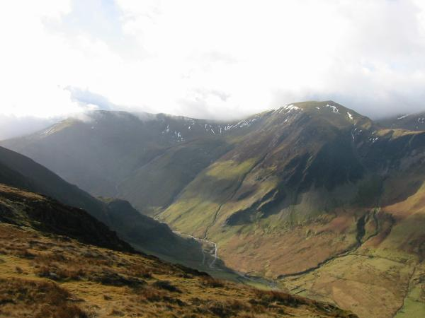 Dale Head, Hindscarth and the upper Newlands valley