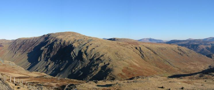 Dale Head from the climb up Grey Knotts from Honister Pass