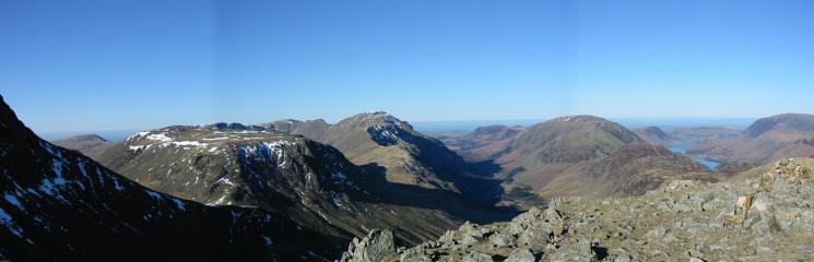 Kirk Fell, Pillar and the High Stile ridge from Green Gable