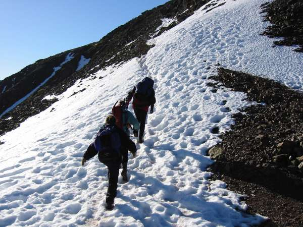 Heading up Great Gable from Windy Gap