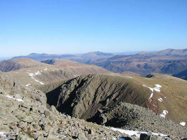 Green Gable from the ascent of Great Gable