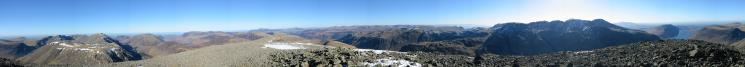 360 Panorama from Great Gable's summit