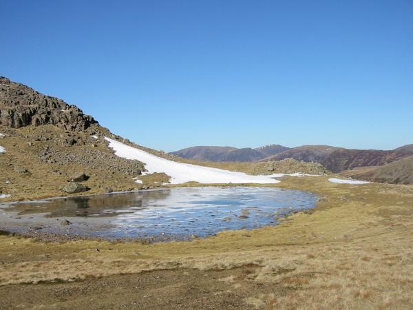 A frozen Beckhead Tarn
