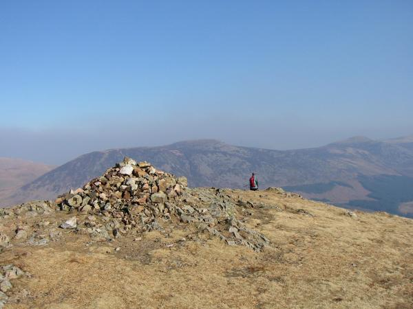 Great Borne and Starling Dodd from Crag Fell's summit