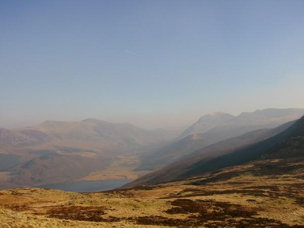 Ennerdale with the High Stile ridge on the left and Pillar with a touch of snow, Steeple and Scoat Fell on the right