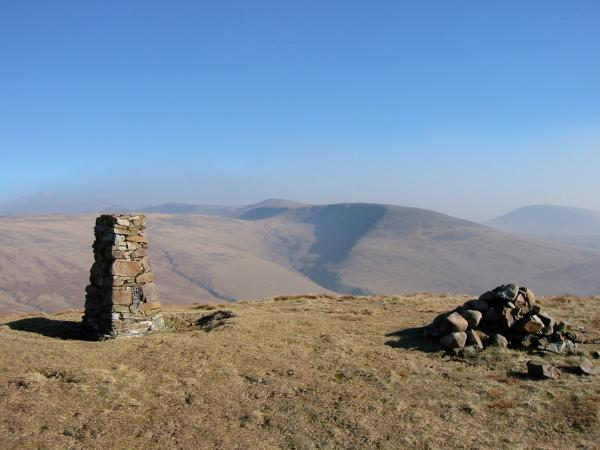 Caw Fell from Lank Rigg summit