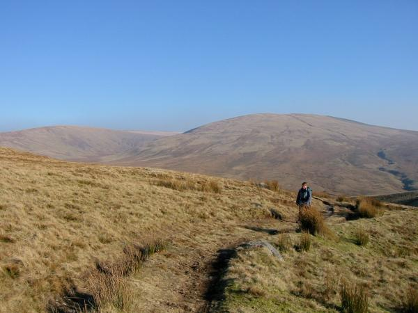 Looking back to Whoap and Lank Rigg from the top of Bomery Gill