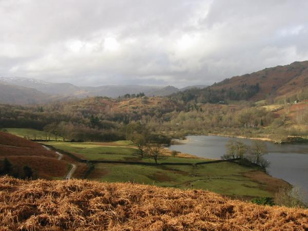 The central fells and Rydal Water