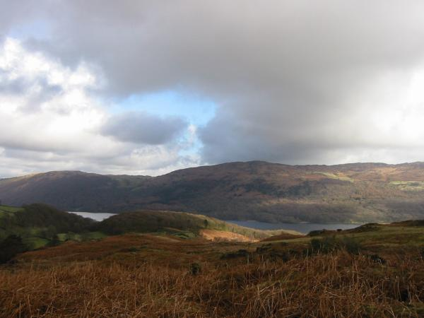 Looking across Coniston Water to Top O' Selside