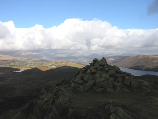 Looking north to Lakeland's high fells from Beacon Fell's summit
