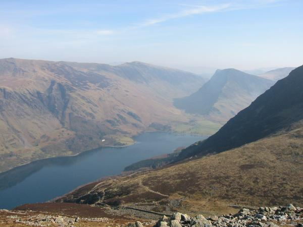 Buttermere and Fleetwith Pike from Dodd's summit
