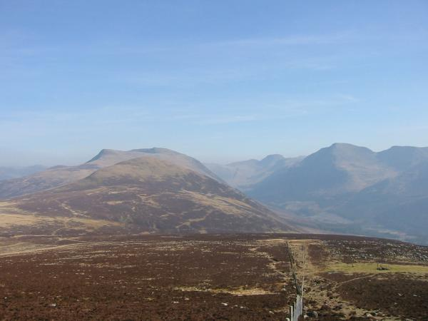Red Pike and High Stile behind Starling Dodd, Ennerdale with Great Gable at its head and Pillar on the right from the ascent of Great Borne