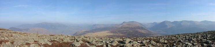 Easterly panorama from Great Borne's summit