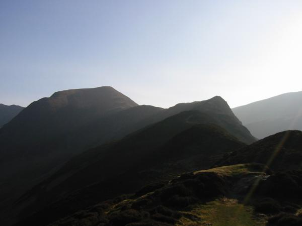 Looking back towards Hindscarth from Scope End