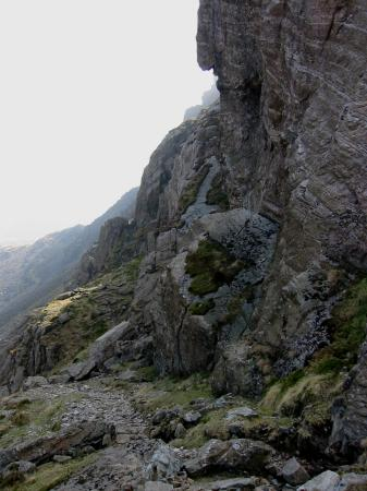 Looking back to the small col on the traverse