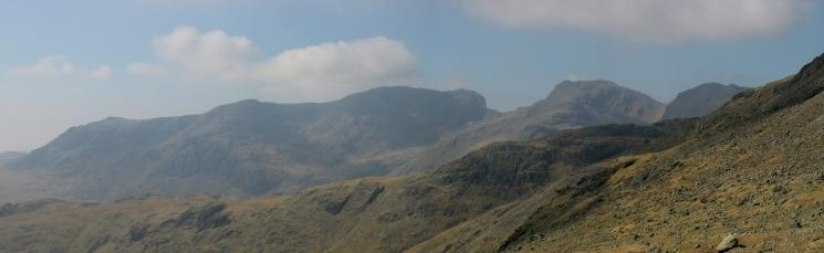 The Scafells from Three Tarns