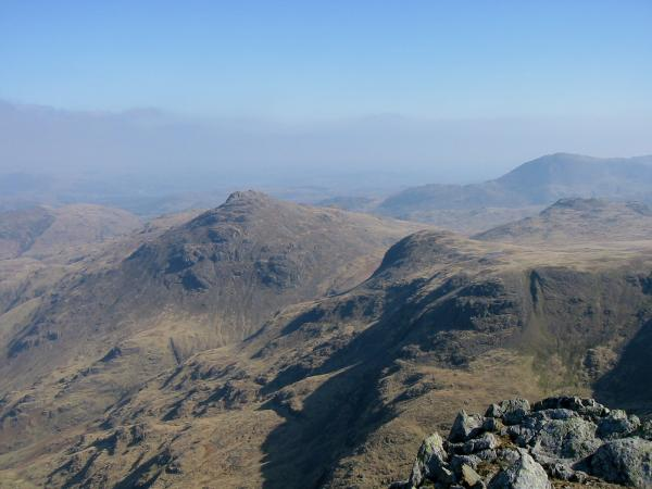 Pike O' Blisco from Crinkle Crags