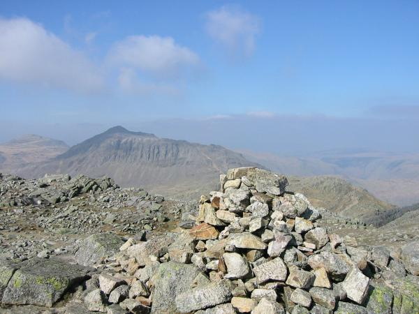 Bowfell from Crinkle Crags summit