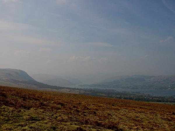 Looking southwest up Ullswater