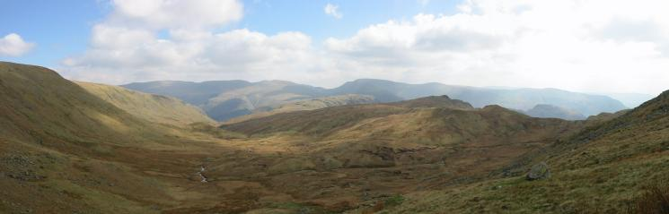 Easterly panorama from the route up Greenup Edge